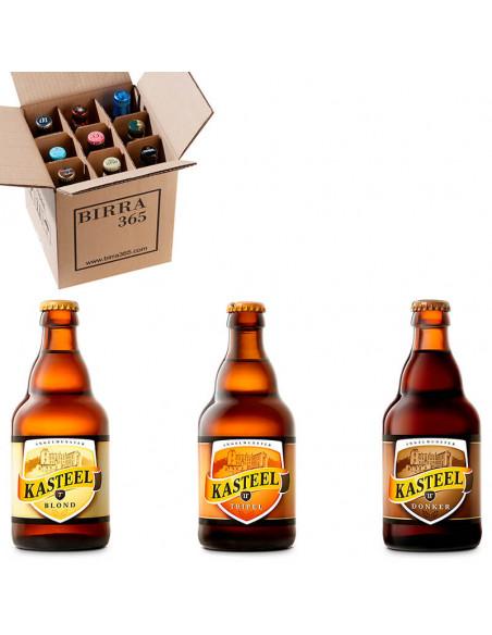 Caja para regalar cervezas belgas Kasteel | Birra365