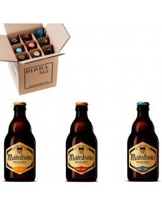 Caja degustación cervezas de abadía Maredsous. El regalo perfecto | Birra365