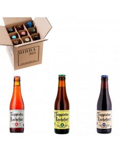 Caja degustación cervezas trapenses Rochefort. Ideal para regalar | Birra365