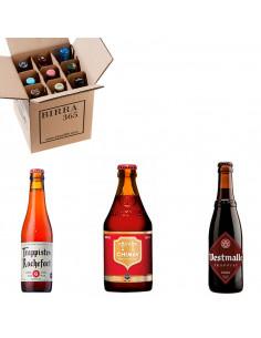 Caja degustación cervezas trapenses para regalar   Birra365