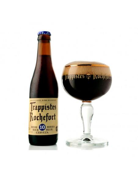 Cerveza oscura trapense quadrupel Rochefort 10 - Birra365