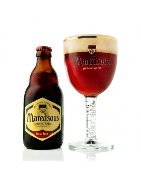 Cerveza tostada abadía dubbel Maredsous 8 - Birra365