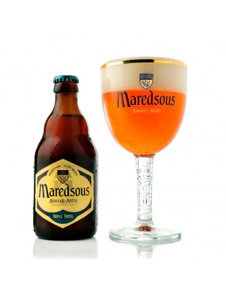 Cerveza abadía tripel Maredsous 10 - Birra365