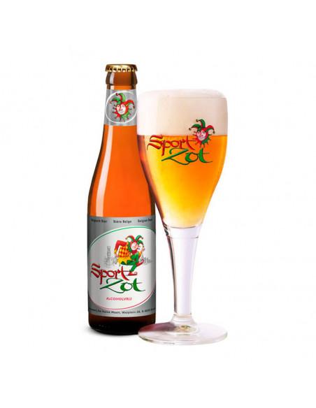 Cerveza sin alcohol Brugse Zot Sport en copa - Birra365