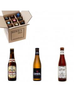 Caja de cervezas belgas con 3 estilos de gran calidad   Birra365