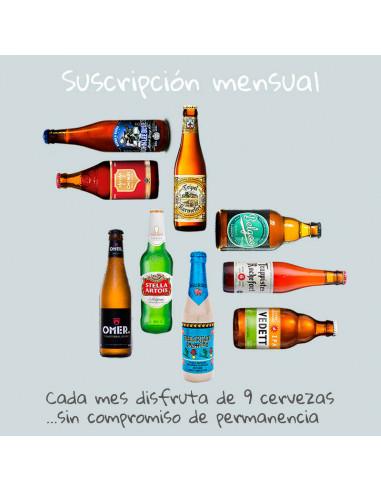 Suscripción mensual caja de cervezas diferentes | Birra365
