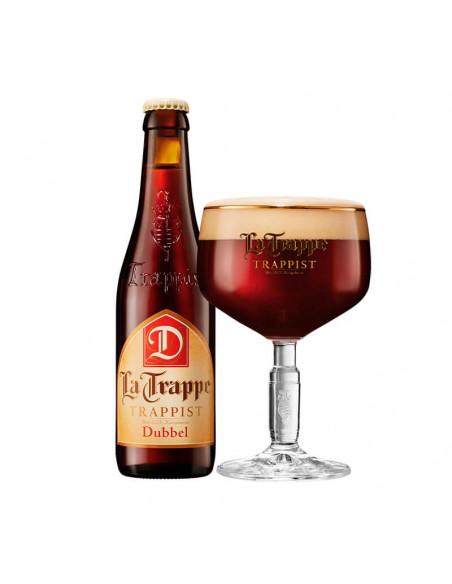 Cerveza tostada La Trappe dubbel en copa - Birra365