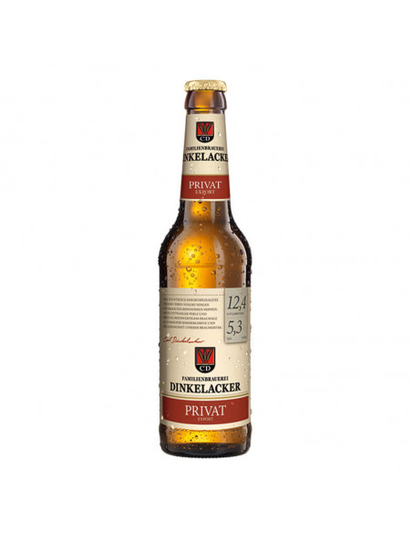 Cerveza alemana rubia Dinkelacker Privat - Birra365