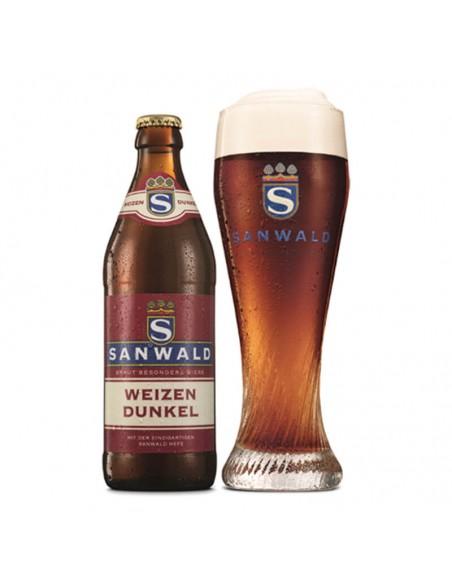 Sanwald Hefe Dunkel con copa Birra365