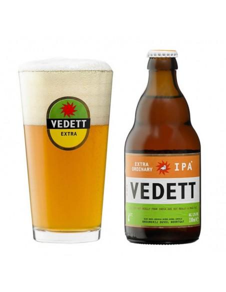 cerveza IPA Vedett con vaso - Birra365