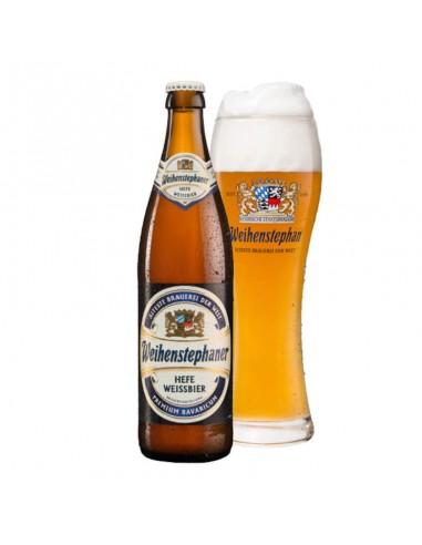 Cerveza trigo Weihestephaner Weissbier vaso - Birra365