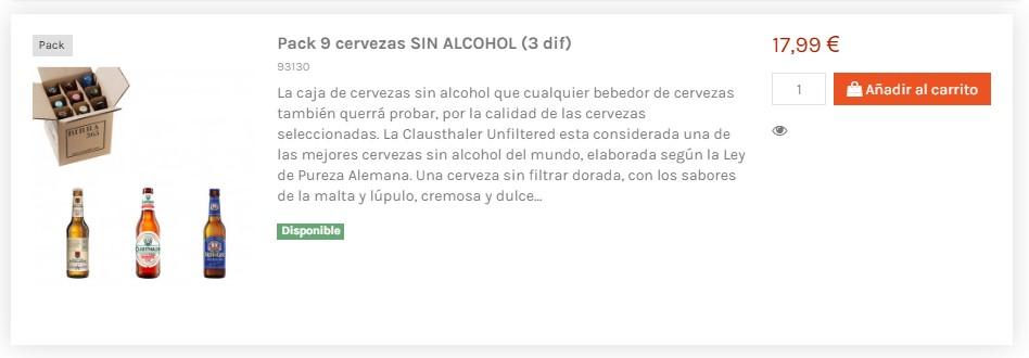 Pack de cervezas sin alcohol. La mejor y más variada selección - Birra365