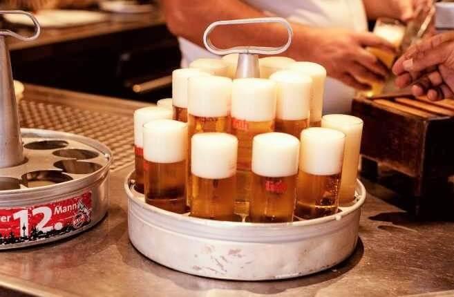 cerveza alemana Kölsch. Vasos de tubo. Birra365