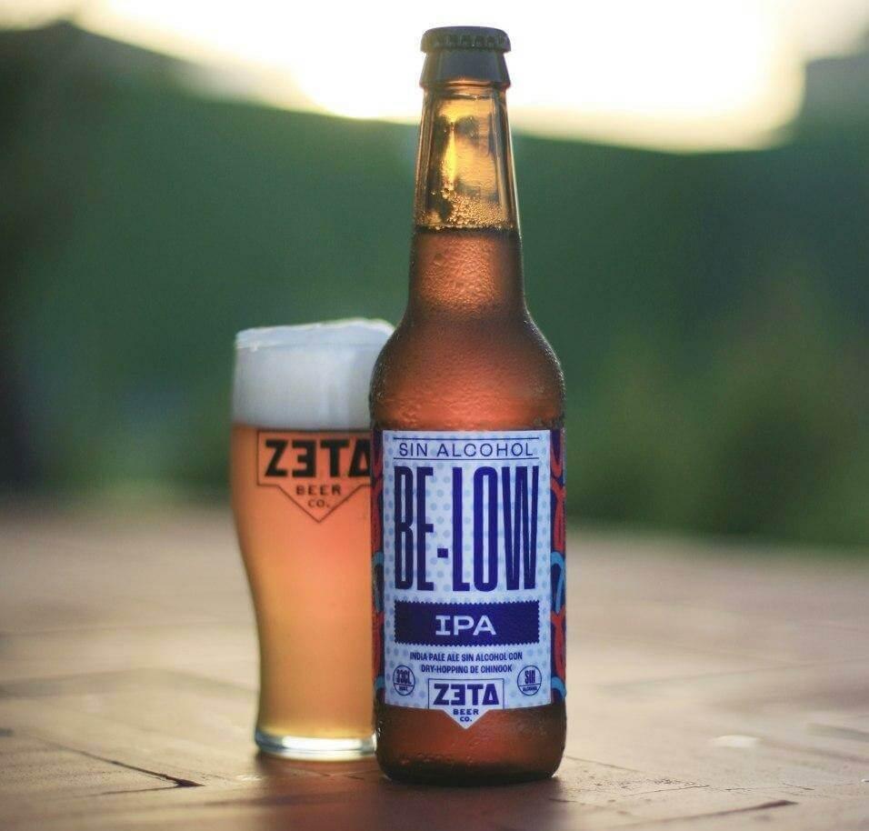 Cerveza sin alcohol artesana IPA BELOW, de Zeta - Compra online en Birra365