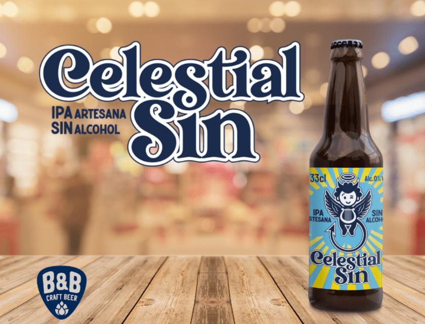 Cerveza sin alcohol artesana IPA, Celestial Sin de B&B - compra cerveza online en Birra365